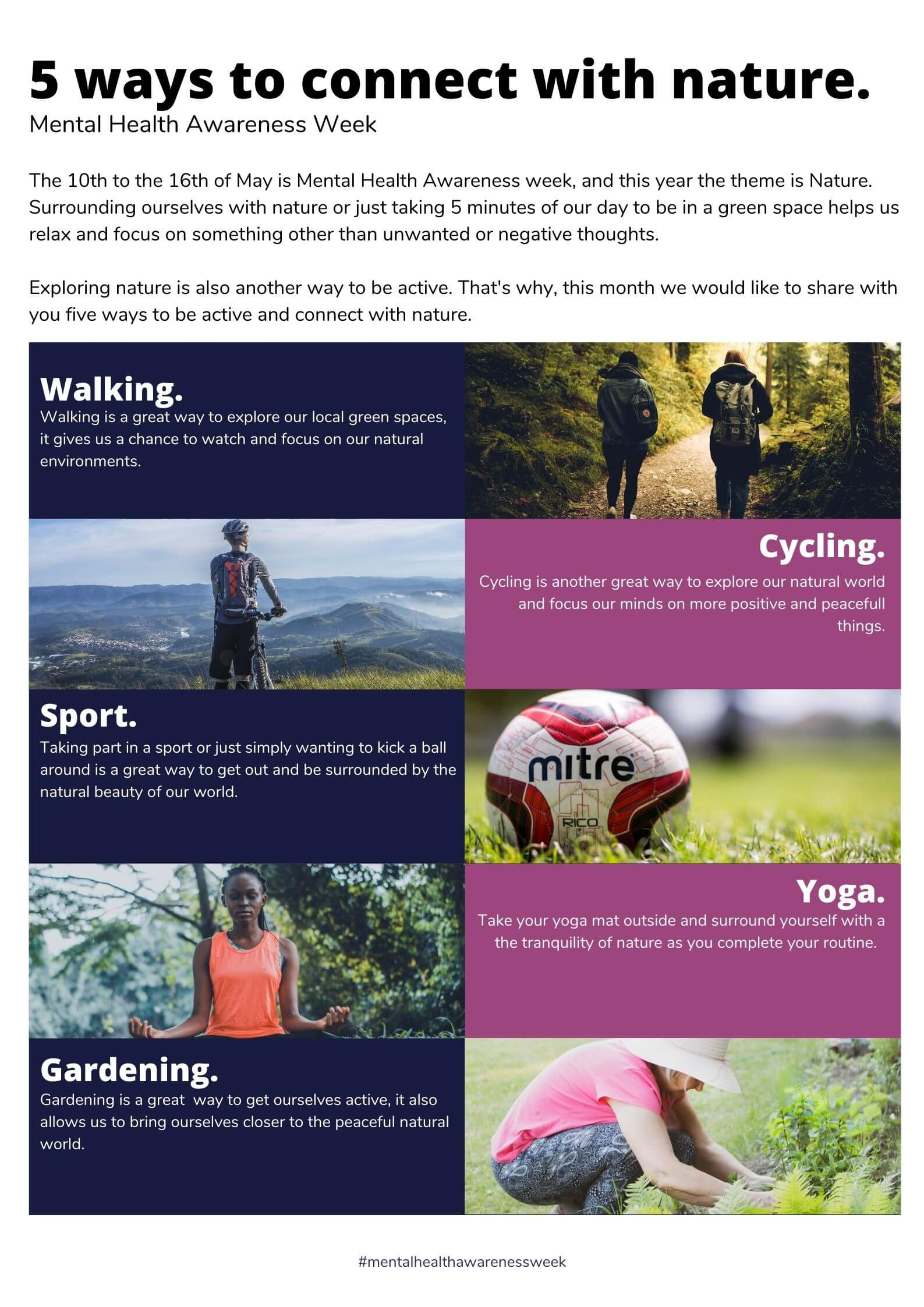 5 ways to be active and connect with nature